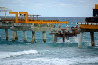 Work continues on the Lake Worth Pier